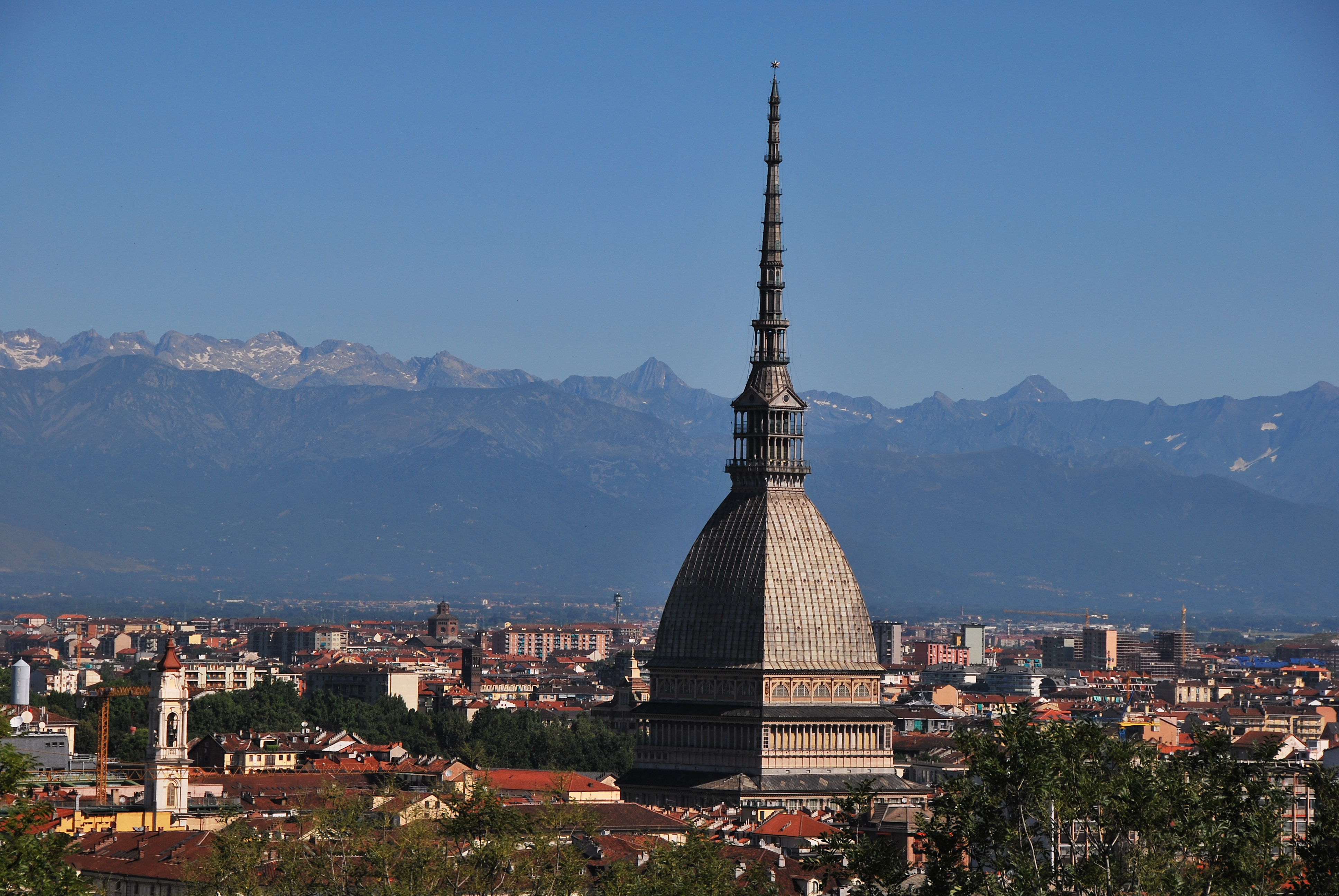 Iconic La Mole, symbol of Turin and home to the national Cinema Museum